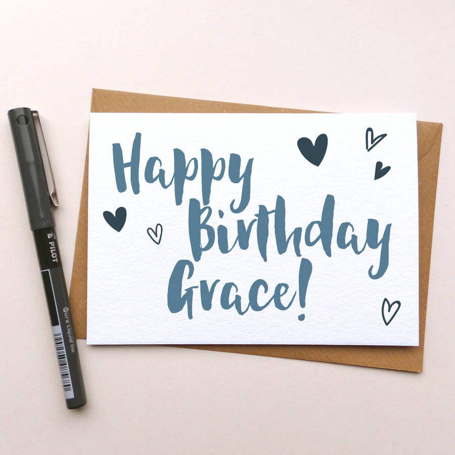 Personalised 'happy Birthday' Greeting Card By Dig The