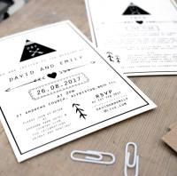 tepee design wedding invitation by precious little plum ...