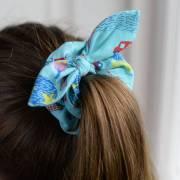 hair scrunchie london print