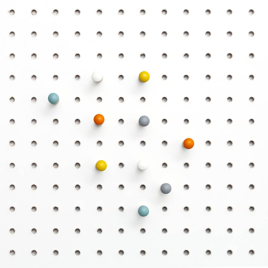 coloured pegboard pegs by block design