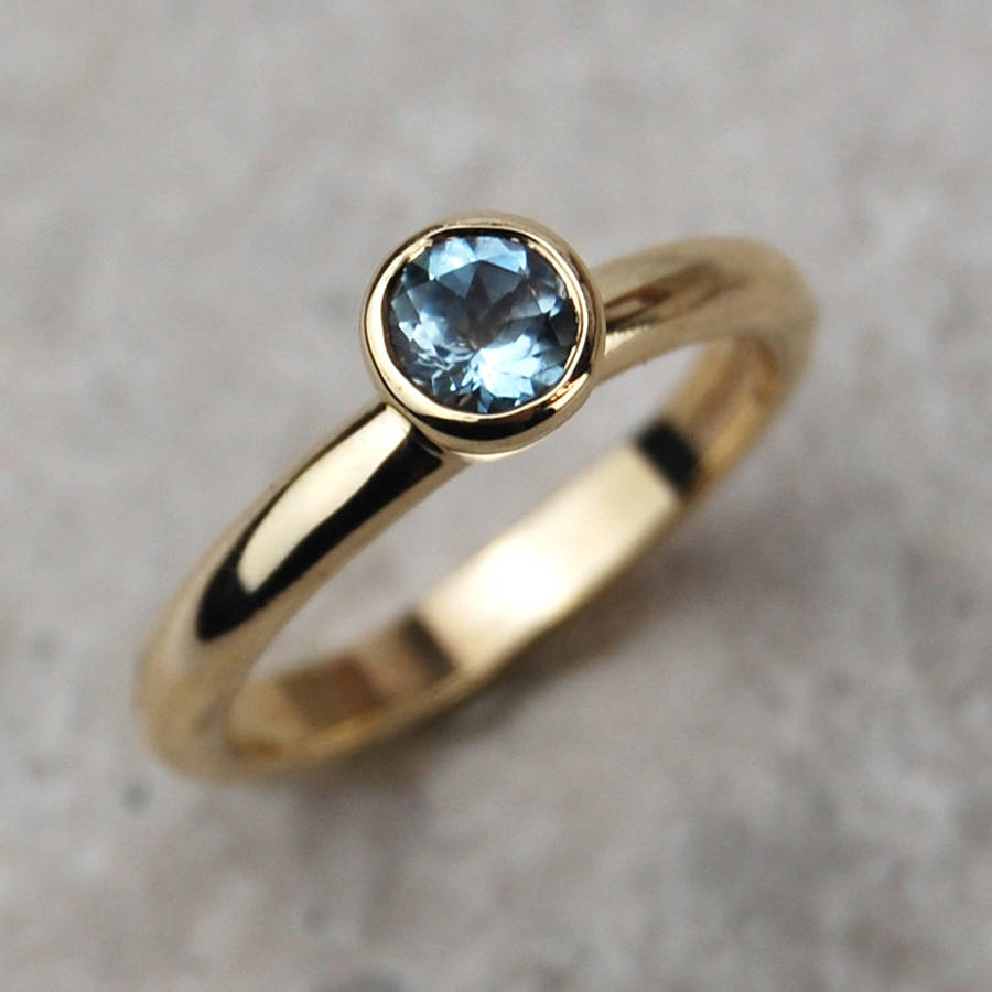 solid gold aquamarine ring by alison moore designs