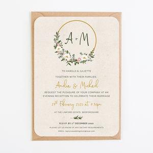 floral hoop wedding invitations