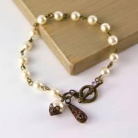 vintage style pearl drop earrings by gama ...