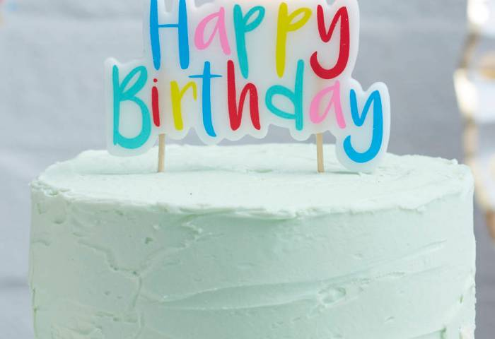 Mulit Coloured Happy Birthday Cake Candle By Ginger Ray