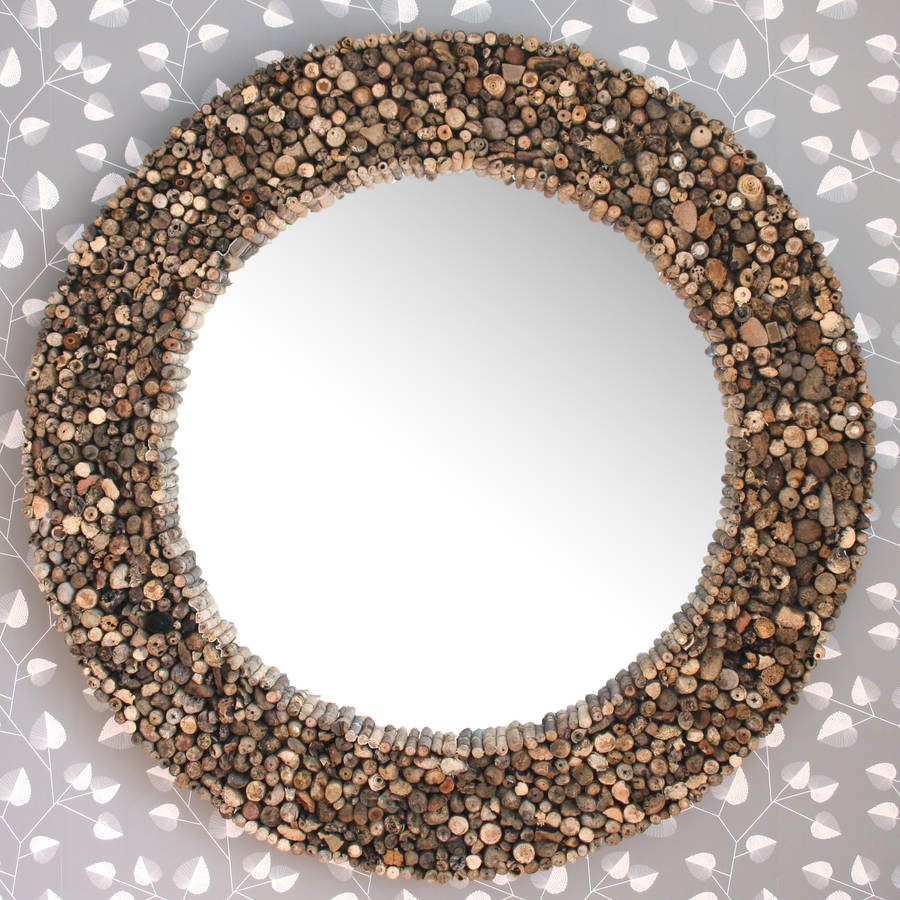 Large Round Driftwood Mirror By Decorative Mirrors Online