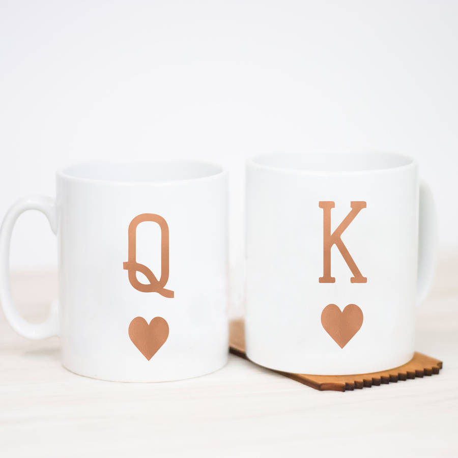 King And Queen Mug By Little Pieces