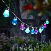 solar lightbulb string lights by london garden trading ...