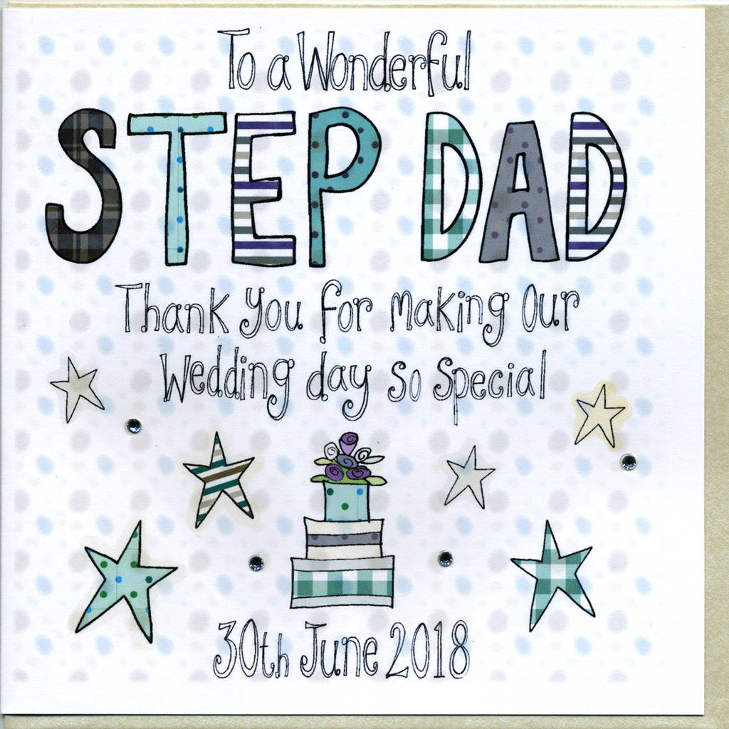 Personalised Step Dad Wedding Thank You Card By Claire