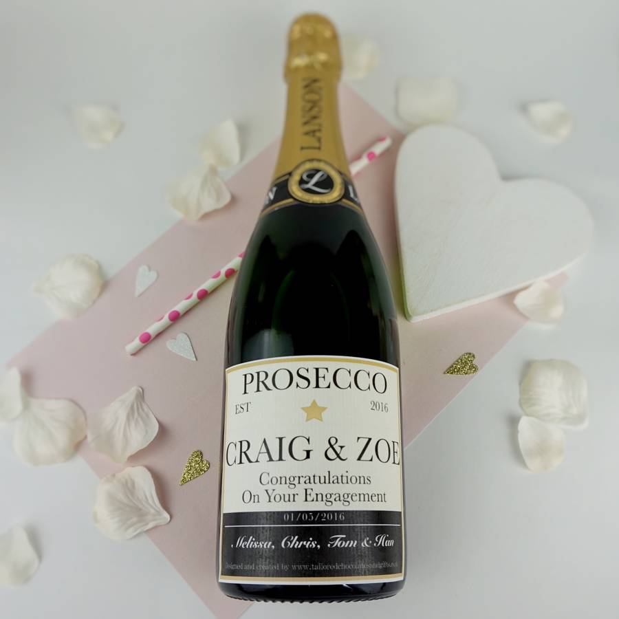 personalised champagne prosecco or