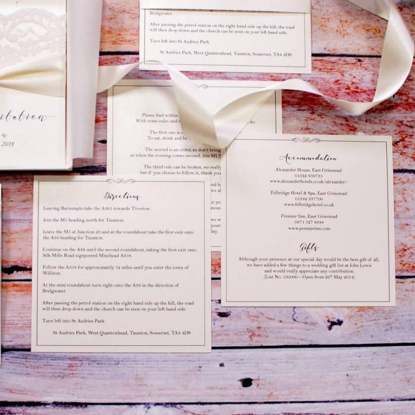 Once Crystal Bespoke Wedding Invitation