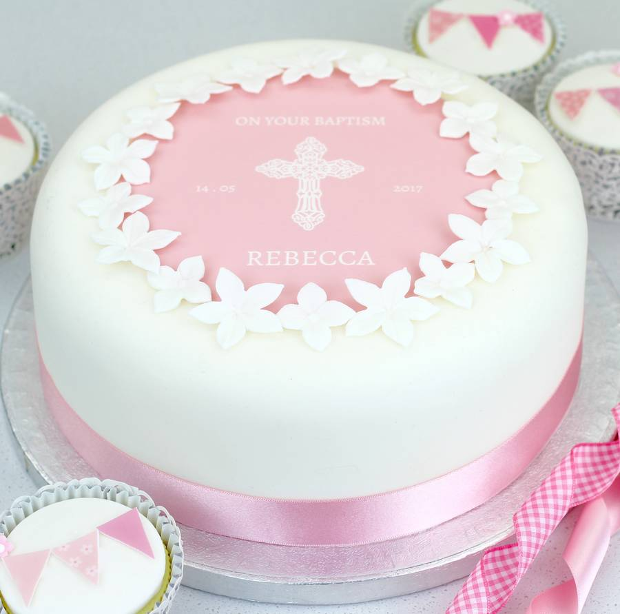 christening cake or baptism