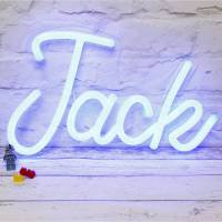personalised led neon light up name by love inc