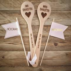 Kitchen Themed Bridal Shower Portable Cabinets For Small Apartments Personalised Wedding Wooden Spoons By Pink Biscuits ...