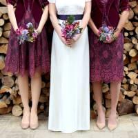 bespoke bridesmaid dresses in rosewood lace by nancy mac ...