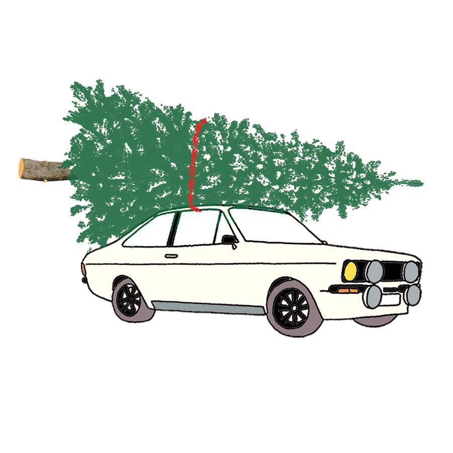 Car Christmas Card Christmas Lights Card And Decore