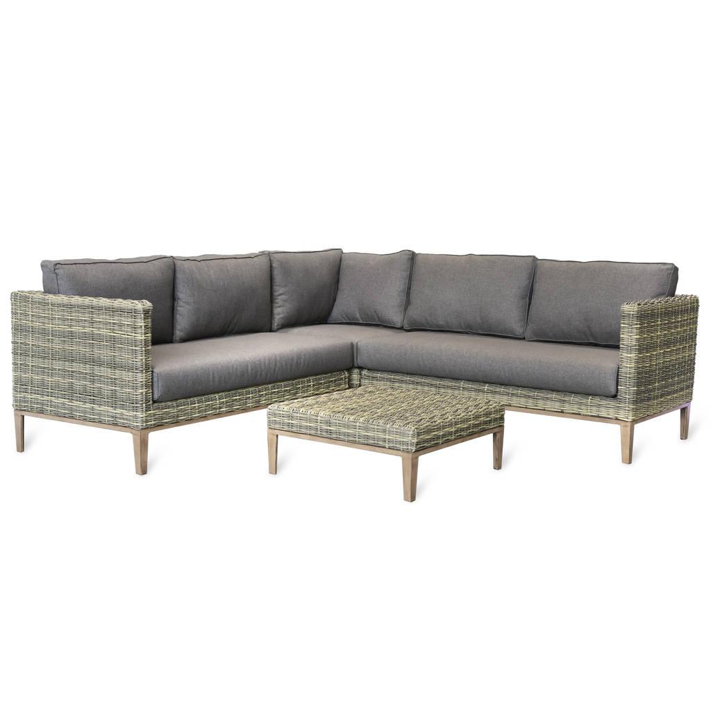 3 seater rattan effect mini corner sofa black art show 5 set with