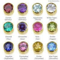 birthstone earrings in 18ct gold by lilia nash jewellery ...