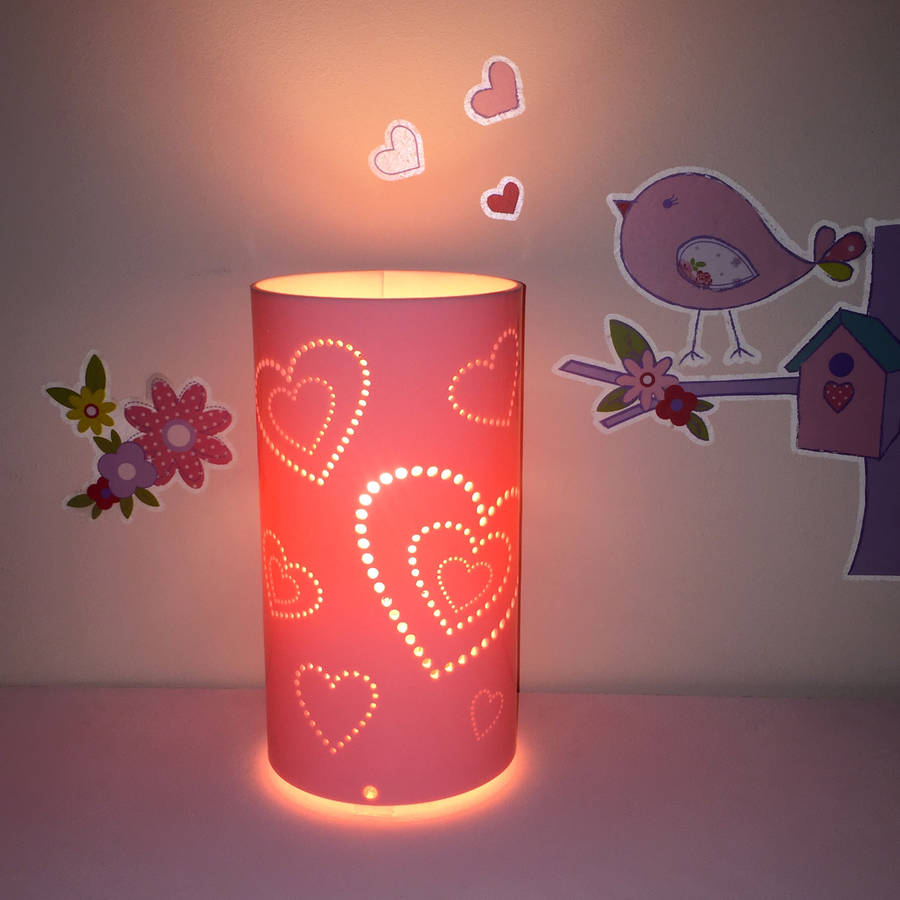 heart table lamp by kirsty shaw