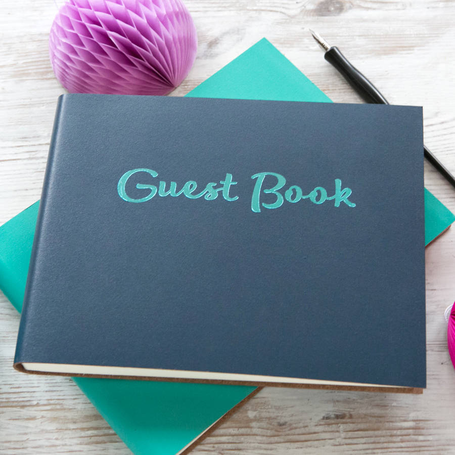 personalised party guest book by begolden  notonthehighstreetcom