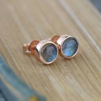 solid gold labradorite stud earrings by alison moore