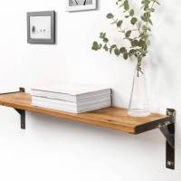 reclaimed wood and steel industrial style shelf by ...
