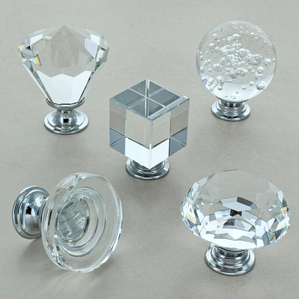 glass kitchen door handles outdoor plans pdf crystal cabinet knobs cupboard by g