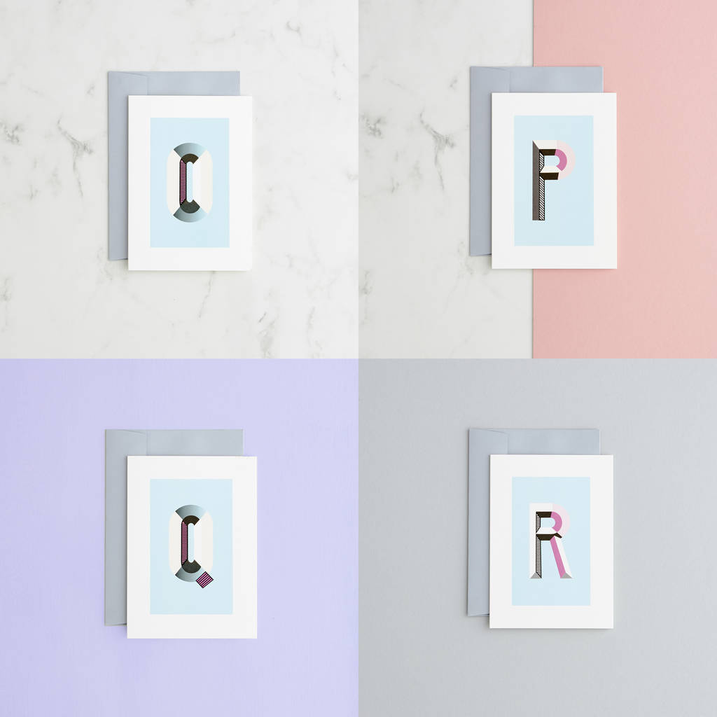 Blank Card Monogram Alphabet Cards By Type And Story