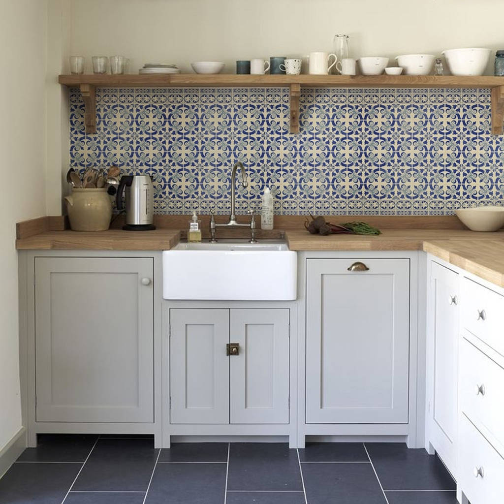 wallpaper for kitchen walls curtain sets delft backsplash by lime lace