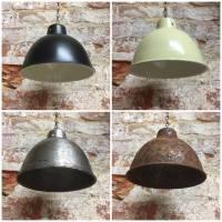 small enamel metal lampshade pendant lamp by bobo's beard ...