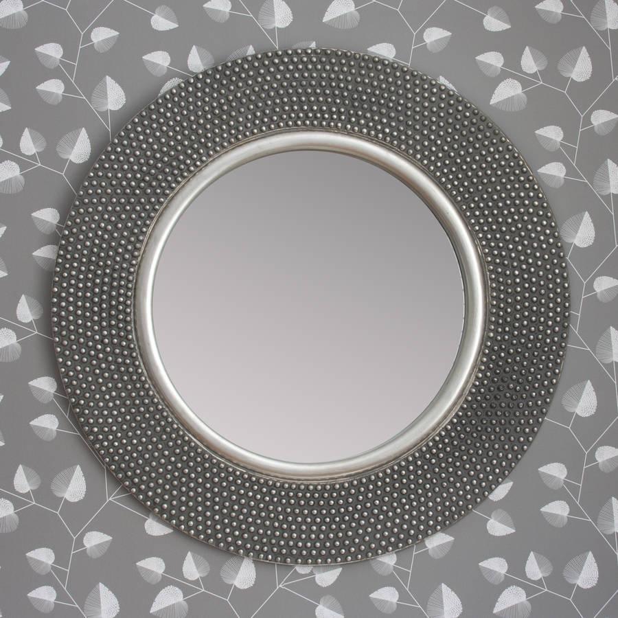 Dante Round Silver Mirror By Decorative Mirrors Online