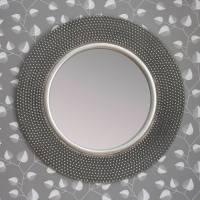 dante round silver mirror by decorative mirrors online ...