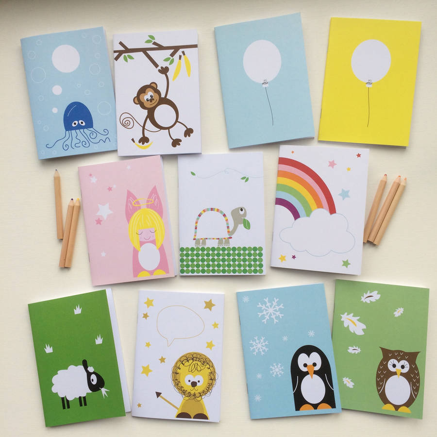 childrens personalised initial notebook by half pint home
