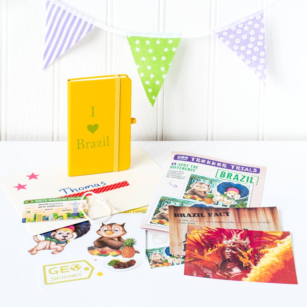 Brazil Themed Activity Set With Notebook By Geo Journey