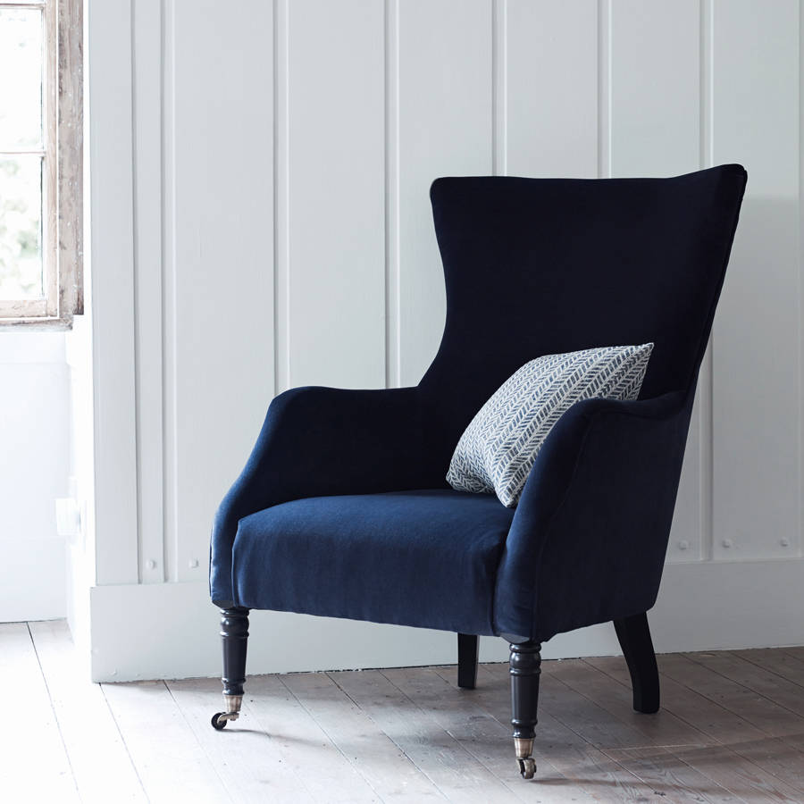 Wing Back Chairs Bromley Wing Back Chair Midnight Velvet