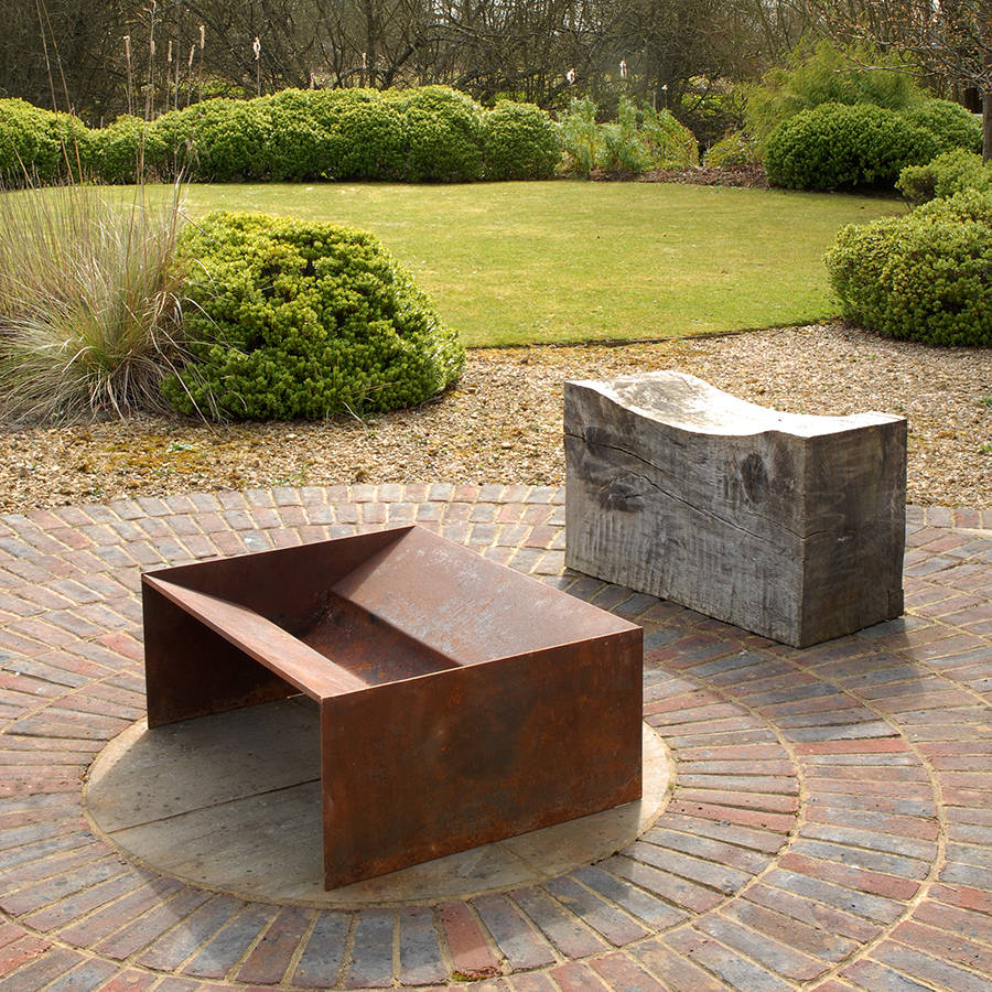 chunk welded steel fire pit by magma firepits