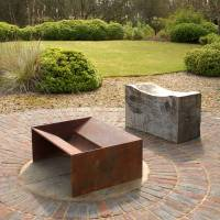 chunk welded steel fire pit by magma firepits ...