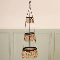 Hanging Chair Notonthehighstreet Foldable Office Uk Country Style Set Of Three Storage Baskets By Dibor