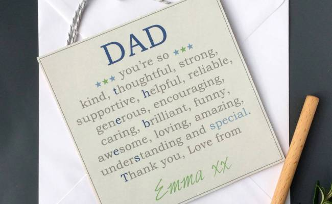 Personalised Dad Fathers Day Keepsake Gift By Spin