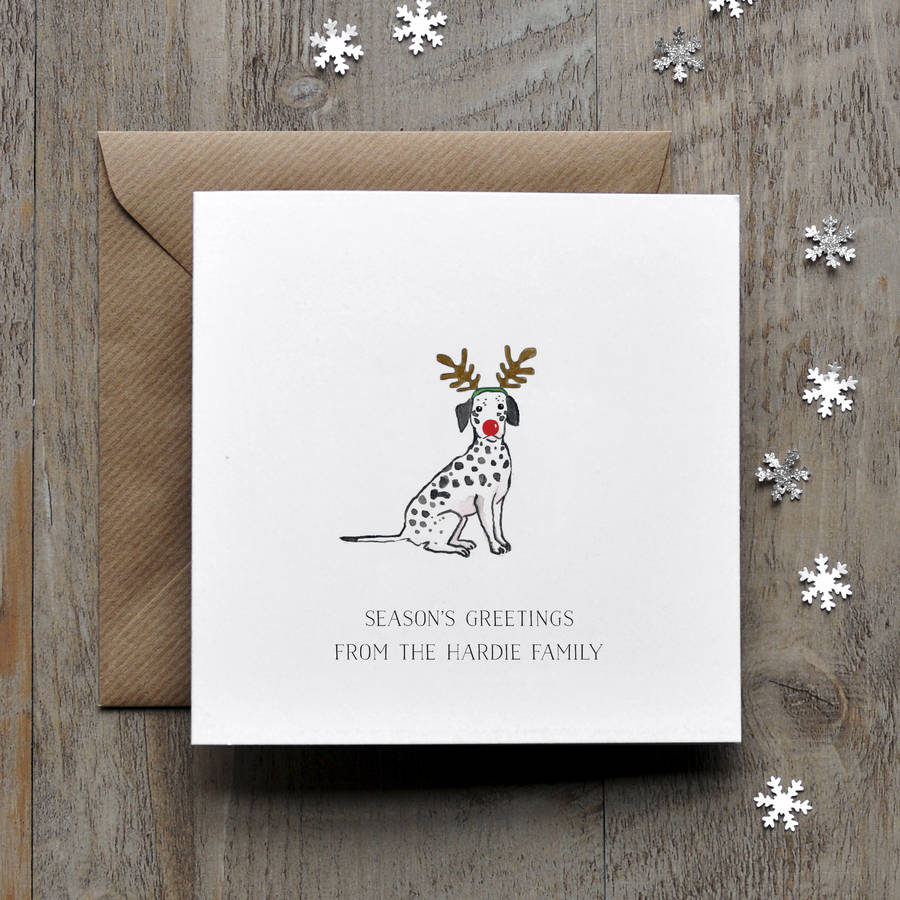Dalmation Dog Christmas Card By Honeytree Publishing