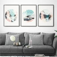 set of three abstract wall art prints by bronagh kennedy ...