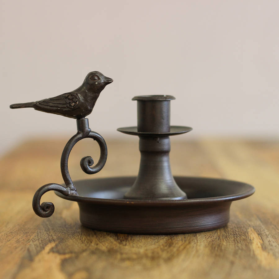 metal bird candle holder by dibor