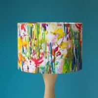 flowerbed watercolour lampshade by diana fegredo studio ...