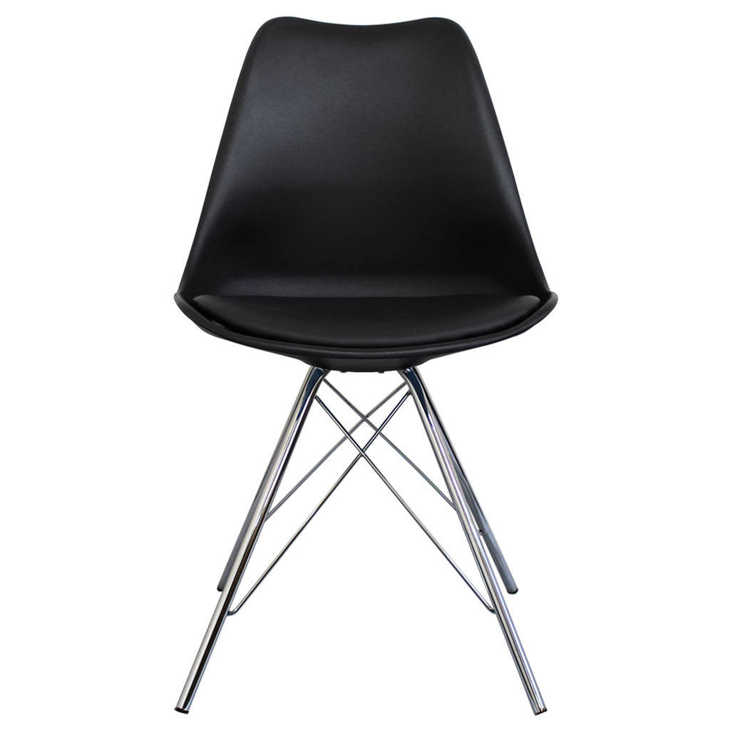 black dining room chairs with chrome legs large papasan chair copenhagen by circle 43 line