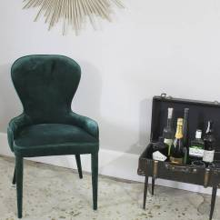 Emerald Green Velvet Chair Dining Room Covers Purple Cocktail By Ella James