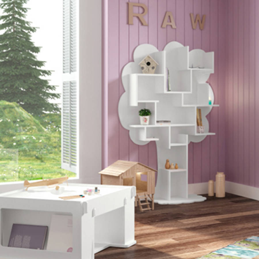 Louane Kids Small Tree Bookcase By Cuckooland