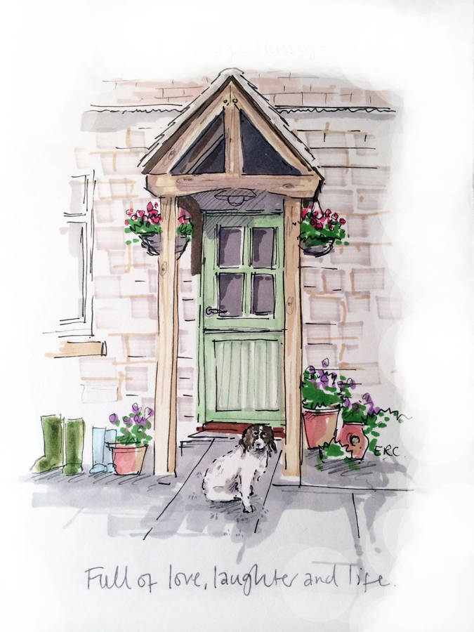 Personalised Front Door Illustration By Homemade House