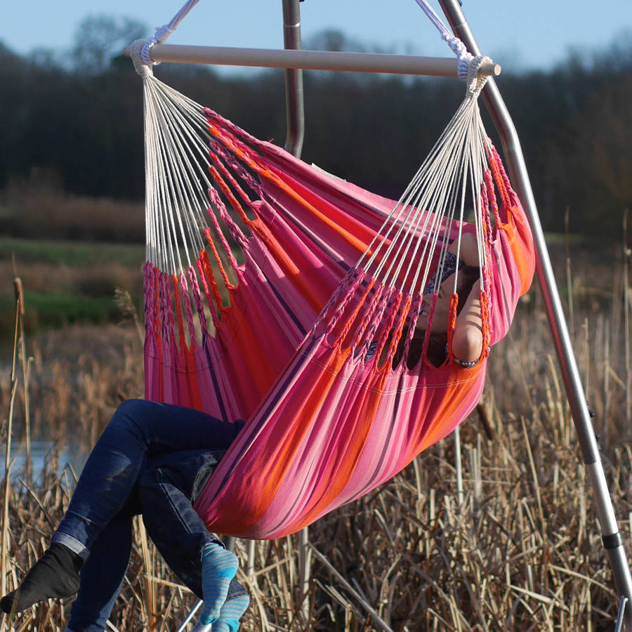 hanging chair notonthehighstreet ottoman combo rose by emilyhannah ltd com