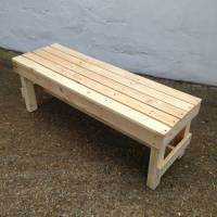 'squared' pallet timber garden bench by gas&air studios ...