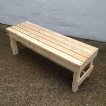 'squared' Pallet Timber Garden Bench Gas&air Studios