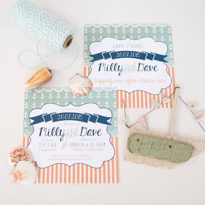 Beside The Seaside Wedding Invitation By Something Kinda Cute
